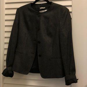 Black 4 button down maxmara jacket virgin wool